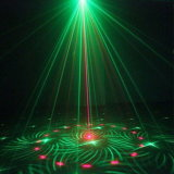 Рождественские украшения освещения сцены зеленый свет лазера