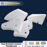 Fodera di ceramica delle mattonelle di usura personalizzata allumina di 92% per resistenza all'usura