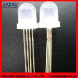Cuatro Patas 8mm diodo LED RGB (RoHS ánodo común)