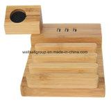 Post van de Last van het bamboe de Houten voor Horloge I van de Appel de Houder van de Tribune van Iwatch van het Horloge met de Haven van Lader 3 USB
