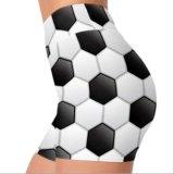 Banheira de estilo de futebol em 3D Imprimir Sport curtos para Mulheres Yoga Fitness Yoga Quick Dry curtos