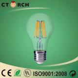 LEIDENE van de Gloeidraad van het Glas van Ctorch E27 Bol Lichte 6W 100lm/W
