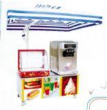 Vitrine d'affichage de réchauffement+Combinaison de la machine de crème glacée véhicule mobile (QCE-F05)