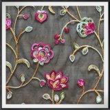 Таким образом цепь Embroideried кружева красочными цветочными кружевом