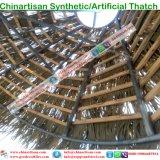 합성 이엉 인공적인 종려 잎 초가지붕 초막 몰디브 행락지
