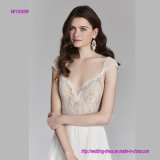 Chantilly Spitze über Mieder-Netz A - Zeile Hochzeits-Kleid