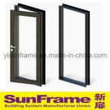 Алюминиевый безопасный дверная рама перемещена в черный