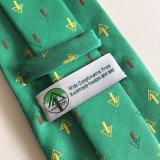 Conception personnalisée en polyester tissé à la mode pour hommes d'attache (L063)