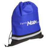 Neoprene impermeabile promozionale ecologico del Drawstring di marchio su ordinazione che impacca sacchetto di nylon nero
