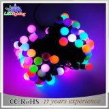 Lumières décoratives de chaîne de caractères de Noël 10m100L DEL de bille multi de couleur