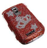 Couverture arrière dure en plastique de modèle de Rhinestone de modèle de couronne pour Blackberry 9000