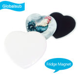 Magnete del frigorifero di sublimazione con stampa di immagine di DIY - figura del cuore