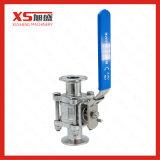 Válvula de esfera Encapsulated sanitária sanitária do assento de três maneiras do aço inoxidável