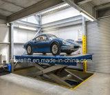 La conception de type ciseaux plate-forme de voiture de relevage hydraulique