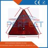 La Chine fournisseur Réflecteur de lumière rouge triangulaire, Triangle d'avertissement de sécurité pour les bus Camion remorque