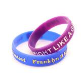 Wristband del branello di fascino dell'oro del braccialetto del laser dell'Au di incisione del braccialetto di Embossedsilicone