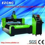 Máquina de estaca dupla do aço inoxidável do CNC do laser da fibra da transmissão do parafuso da esfera de Ezletter (GL1313)