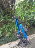 """12 """" 전기 자전거를 접히는 알루미늄 합금 프레임 검정 도시"""