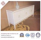Hotel-Möbel mit weißem Farbanstrich-Schrank für Wohnzimmer (YB-T-861)