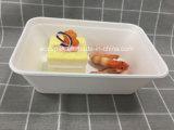 Contenitore bianco di alimento 650ml della pasta di carta della bagassa