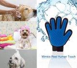 Перчатки мытья любимчика массажа силикона для собаки etc кота