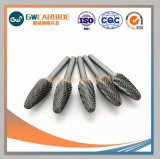 편평한 유형 텅스텐 탄화물 회전하는 숫돌 CNC 착용 부속