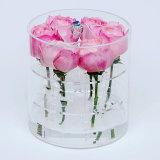 Yageli su caja de embalaje de Rose del surtidor de la confianza del rectángulo de la flor del rectángulo de acrílico digno de Rose