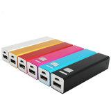 Caricatore promozionale del USB 4 Colourful Powerbank del campione libero 2600mAh con il marchio