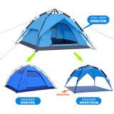 3-4 شخص خارجيّ مسيكة يطوي يخيّم [لوإكسوري هوتل] خيمة لأنّ عمليّة بيع