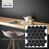 5mm Foshan negro de alta calidad decoración hexagonal mosaico de azulejos de mosaico