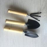 Los niños conjunto de herramientas de jardín de metal con mango de madera resistente