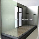 주거/Commerical Balocny/담 방책을%s 알루미늄 Frameless 유리제 난간 시스템