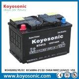 DIN d'acide de plomb 12V normal 60ah sèchent la batterie chargée de voiture (la batterie automobile)