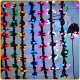 Quirlande électrique de lumière de chaîne de caractères de bille des décorations DEL de Noël avec différentes couleurs