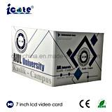 precio de fábrica de 7 pulgadas de pantalla LCD Brochure-Paper la impresión de tarjeta de vídeo