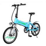 Faltbares Fahrrad der Fell-Batterie-E, das elektrisches Fahrrad-Fahrrad faltet