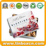 Promoção de quadrados de embalagens de metal Conjunto de armazenamento de Natal Caixa de estanho