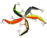 10.5cm 9.6G Multi-Section en plastique de simulation d'appâts de pêche Lure avec crochet