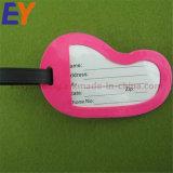 Großhandelsweiches Belüftung-Gummimetallkundenspezifische Plastiksilikon-Leder-Gepäck-Marke
