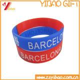 Braccialetto stampato reso personale personalizzato del silicone di marchio per gli eventi (YB-SM-01)