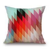 Triangle de la géométrie abstraite colorés 45x45cm linge de coton Housse de coussin (35C0266)
