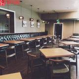 상한 대중음식점 가구 단단한 나무 테이블 의자 세트