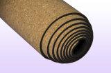 Le couvre-tapis de yoga de liège d'impression de mandala avec libre portent la courroie