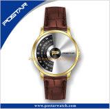Nenhum relógio de pulso especial elegante do projeto de quartzo suíço das mãos