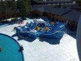Tema Underwater World Parque Acuático en movimiento de tierras inflable con tobogán y la piscina en Venta