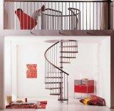 Escalera de acero del metal de Stairs&Stainless de los largueros dobles rectos de cristal de la pisada