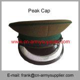 卸し売り安い中国の軍の金軍隊の警官のピーク帽子