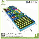 Гимнастика Trampoline зеленого парка Trampoline способа свободно скача для арабских рынков
