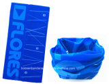 중국 공장 생성 주문 로고에 의하여 인쇄되는 파란 폴리에스테 Microfiber 마스크 관 머리띠