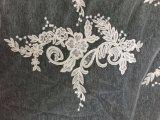 Mini vestido nupcial do vestido de casamento do laço da empregada doméstica das noivas da V-Garganta
